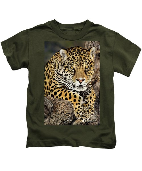 Jaguar Portrait Wildlife Rescue Kids T-Shirt