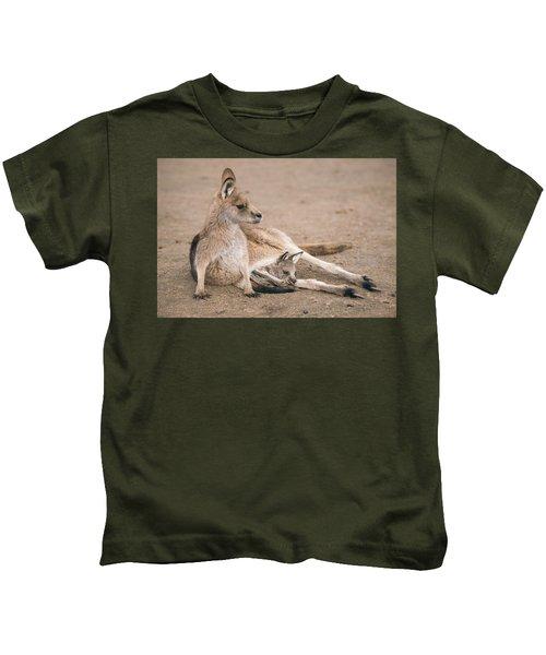 Kangaroo Outside Kids T-Shirt
