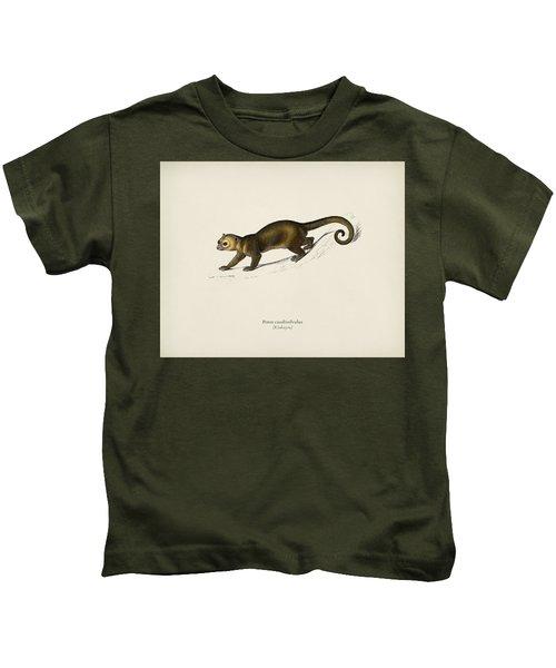 Kinkajou  Potos Caudivolvultrated By Charles Dessalines D  Orbigny  1806 1876 Kids T-Shirt