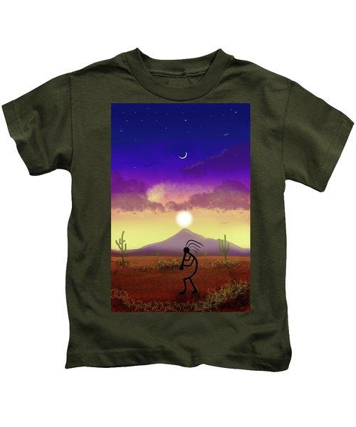 Kokopelli Dream World Kids T-Shirt
