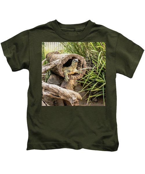 Lace Monitor During The Day. Kids T-Shirt