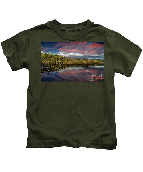 Lake Bodgynydd Sunset Kids T-Shirt