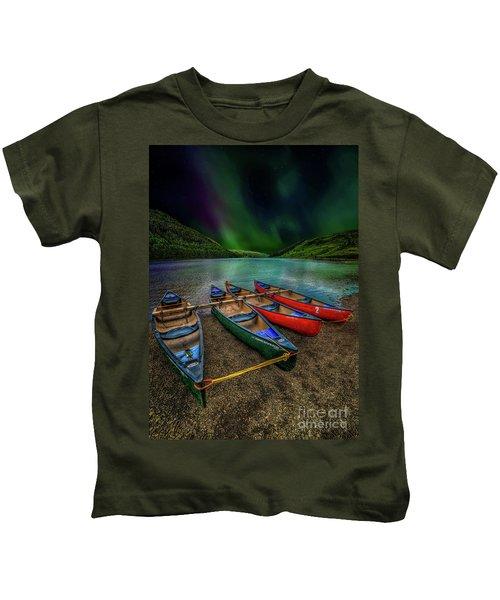 lake Geirionydd Canoes Kids T-Shirt