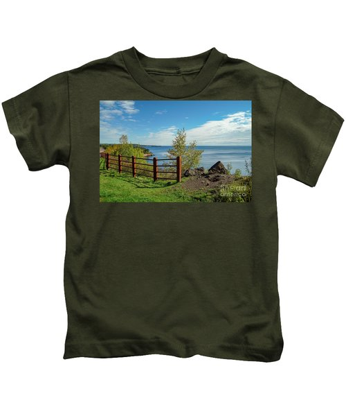 Lake Superior Overlook Kids T-Shirt