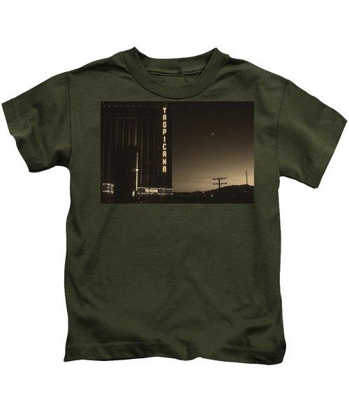 Las Vegas 1984 Sepia #1 Kids T-Shirt