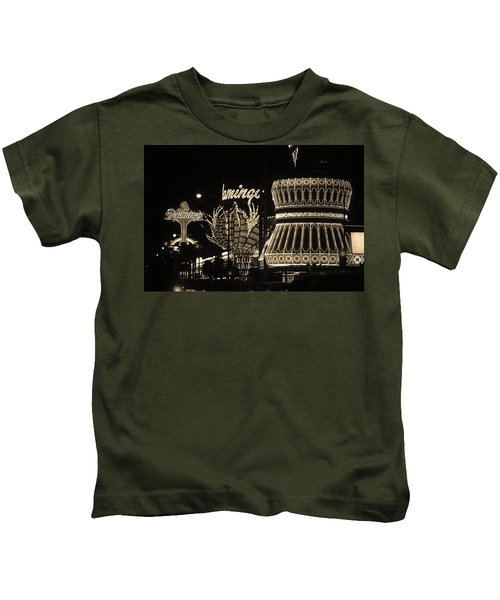 Las Vegas 1984 Sepia #2 Kids T-Shirt