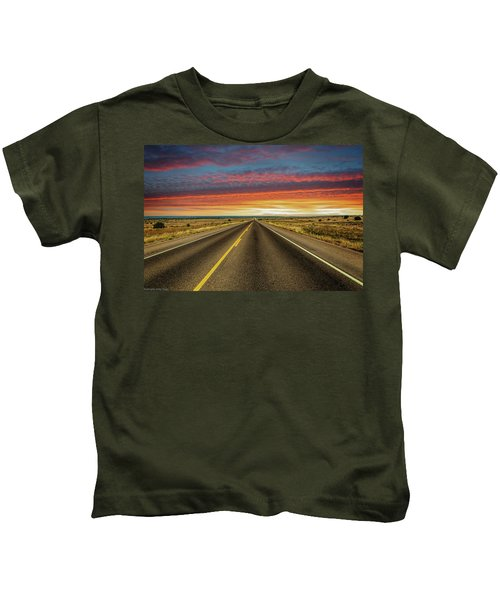 Leaving Lubbock Vanishing Point Kids T-Shirt