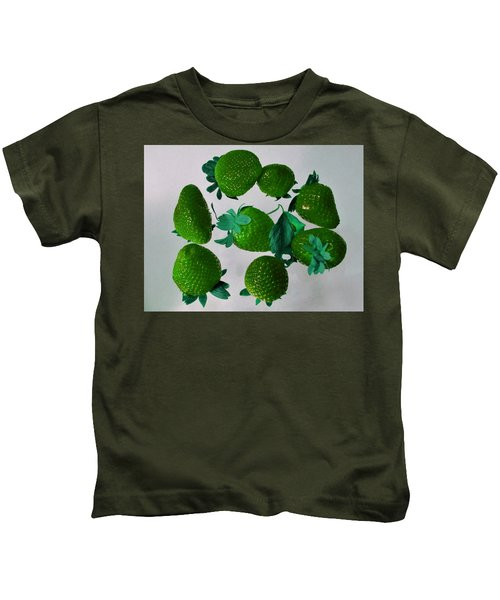 Lime Strawberries Kids T-Shirt