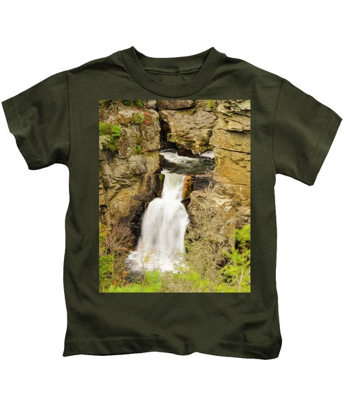Linville Falls - Closeup Kids T-Shirt