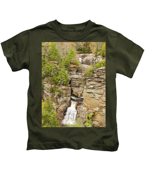 Linville Falls - Vertical Kids T-Shirt