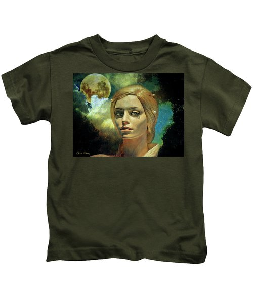 Luna In The Garden Of Evil Kids T-Shirt