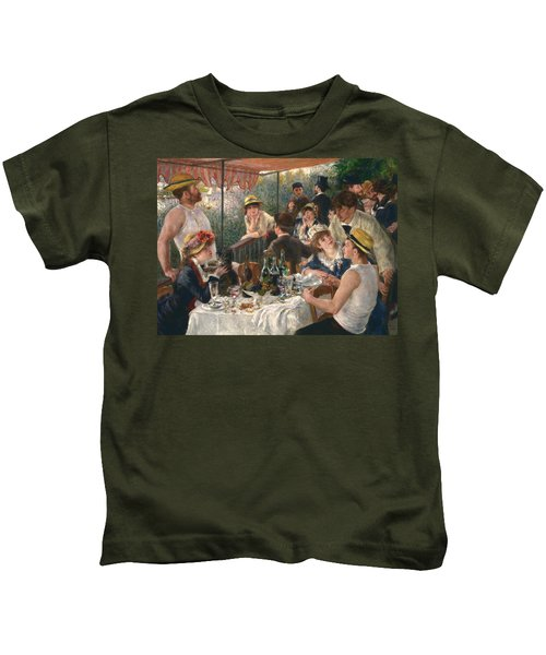 Luncheon Of The Boating Party, 1880-1881 Kids T-Shirt