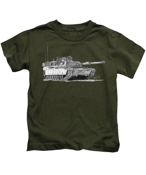 M1a1 C Company 2nd Platoon Commander Kids T-Shirt