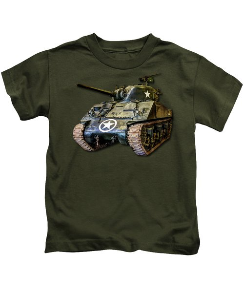 M4 Sherman Map Kids T-Shirt