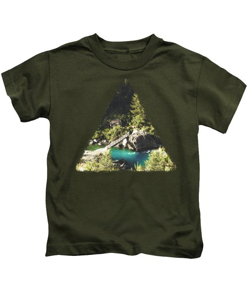 Mallero Mountain River - Lombardia - Italy Kids T-Shirt