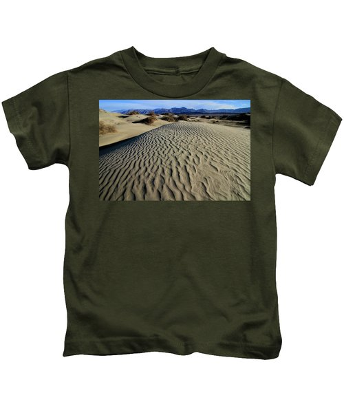 Mesquite Flat Sand Dunes Grapevine Mountains Kids T-Shirt