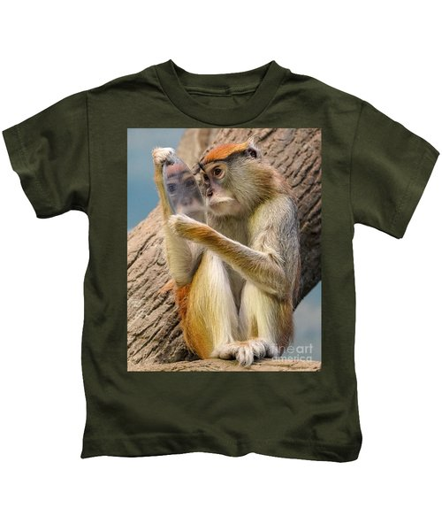 Mirror Selfie Kids T-Shirt