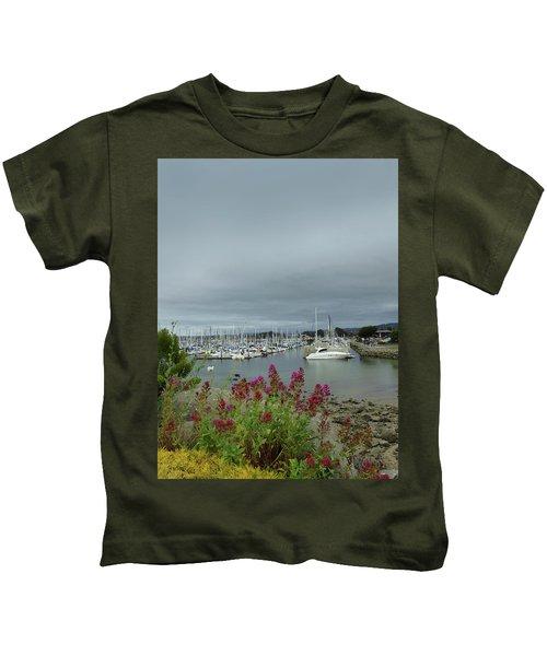 Monterey Harbor  Kids T-Shirt