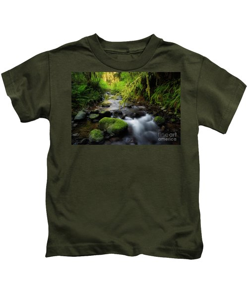 Morning Walk In The Creek  Kids T-Shirt