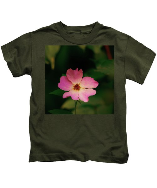 Multi Floral Rose Flower Kids T-Shirt