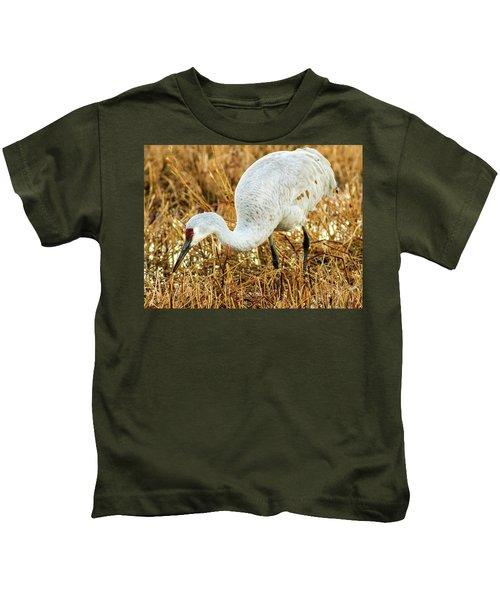 Munching Sandhill Crane Kids T-Shirt
