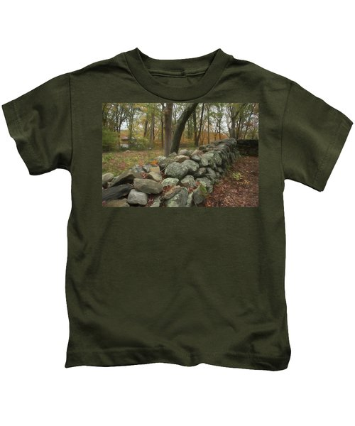 New England Stone Wall 1 Kids T-Shirt