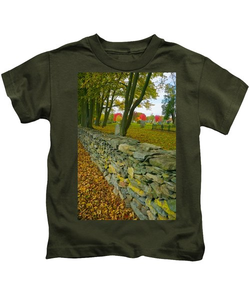 New England Stone Wall 2 Kids T-Shirt