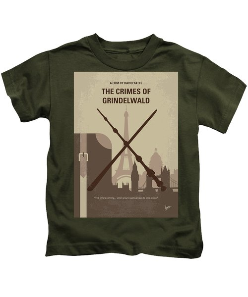 No1042 My The Crimes Of Grindelwald Minimal Movie Poster Kids T-Shirt