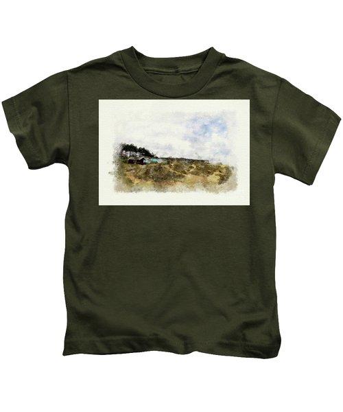Norfolk Beach Huts Kids T-Shirt