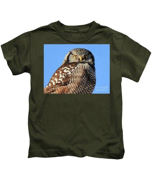 Northern Hawk-owl Kids T-Shirt
