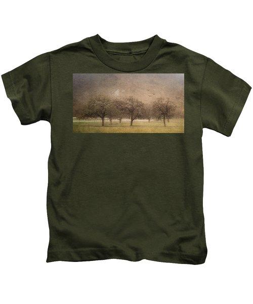 Oak Trees In Fog Kids T-Shirt