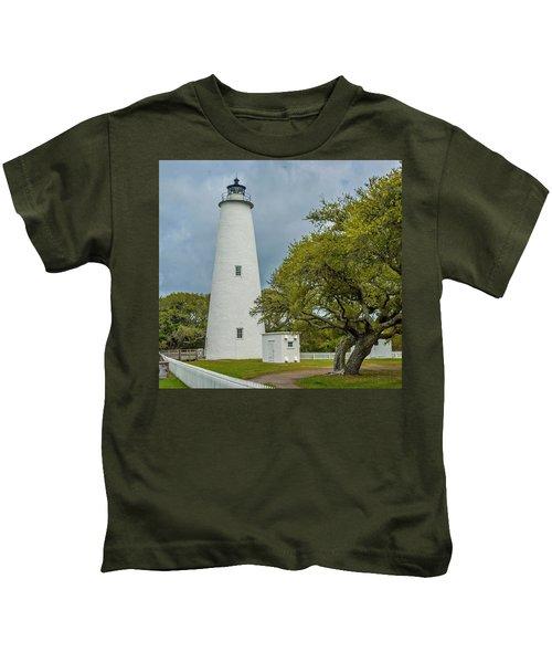 Ocracoke Lighthouse No 2 Kids T-Shirt