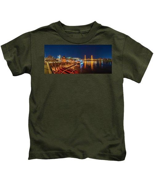 Old Sacramento Panorama Kids T-Shirt