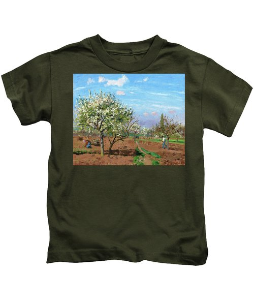 Orchard In Bloom, Louveciennes - Digital Remastered Edition Kids T-Shirt