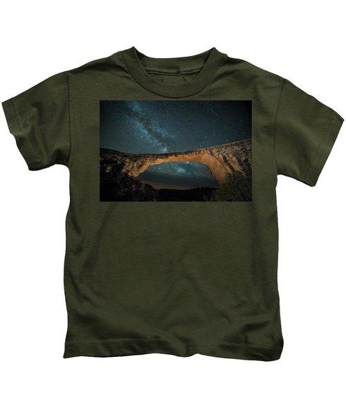 Owachomo Natural Bridge And Milky Way Kids T-Shirt