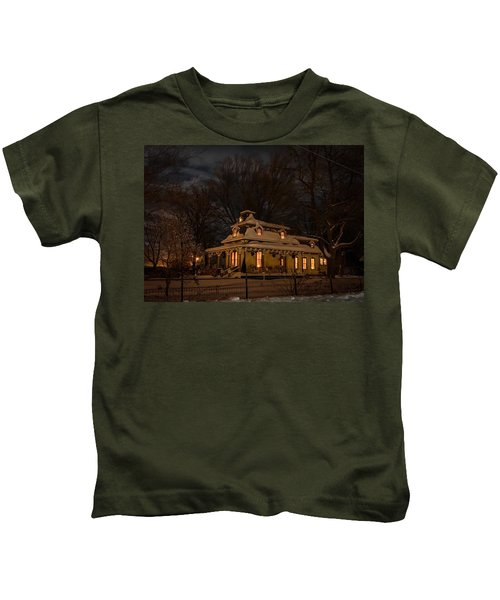 Painted Lady In Winter Kids T-Shirt