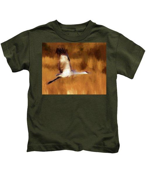 Painterly Crane Kids T-Shirt