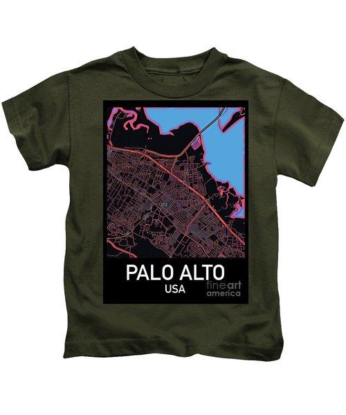 Palo Alto City Map Kids T-Shirt