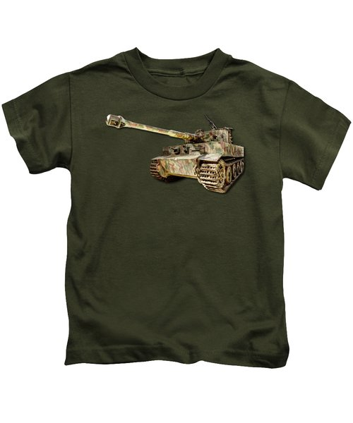 Panzer Vi Tiger Canvas Kids T-Shirt