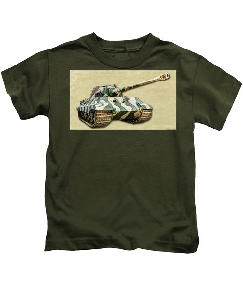 Panzer Vi Tiger II Canvas Kids T-Shirt