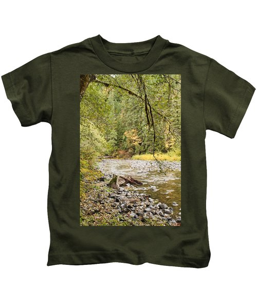 Peaceful Molalla River Kids T-Shirt