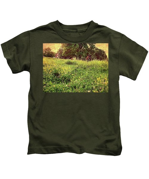 Peaceful Pastoral Perspective Kids T-Shirt