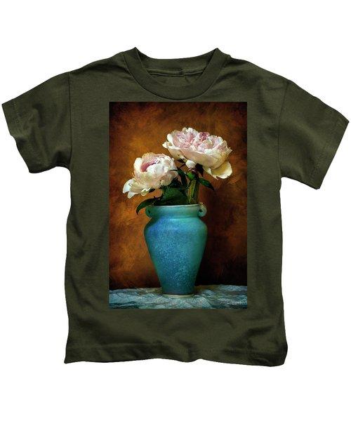 Peonies In Spring Kids T-Shirt