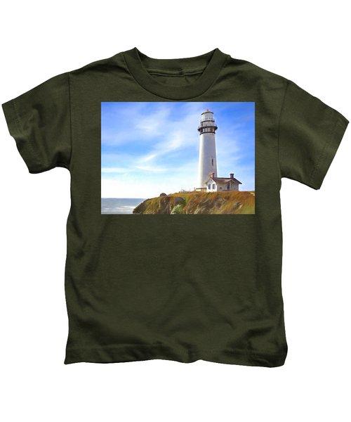 Pigeon Point Lighthouse Ca Kids T-Shirt