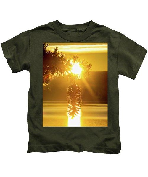 Pine Cone Fire Kids T-Shirt
