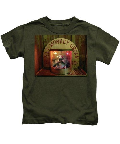 Play The Monkey Organ Kids T-Shirt