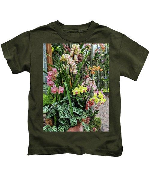 Plentiful Orchids Kids T-Shirt