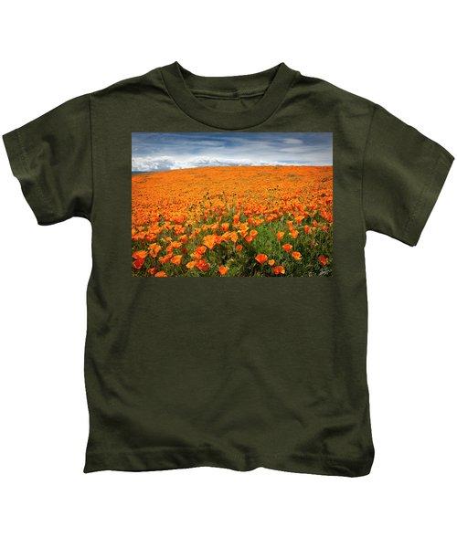 Poppy Fields Forever Kids T-Shirt