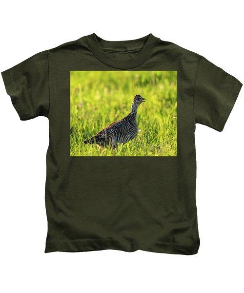 Prairie Chicken Hen Kids T-Shirt