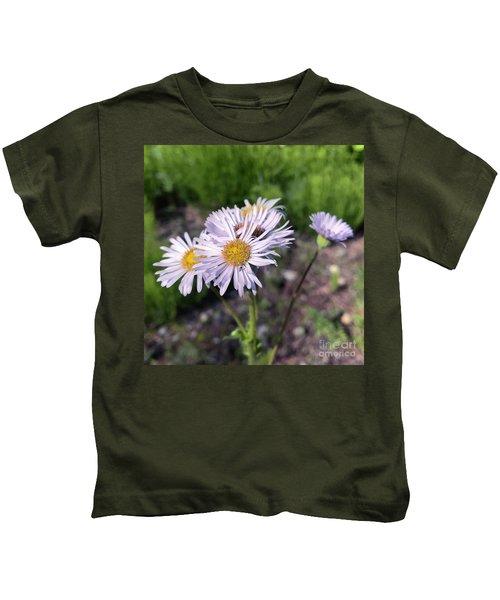 Purple Fleabane 5 Kids T-Shirt